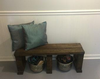 Rustic Handmade Wood Bench
