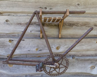 Wooden Bike Rack for Road and Mountain Bikes