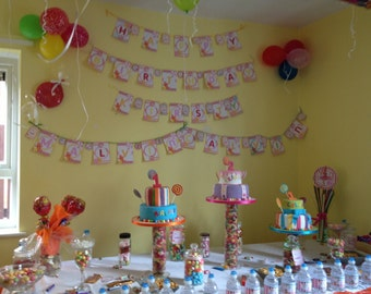 Personalised birthday party theme