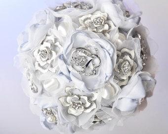 ice dream wedding brooch bouquet
