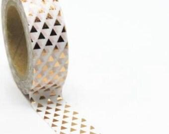 Copper Foil Triangle Washi Tape