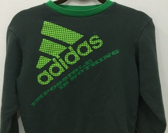 Vintage 90's Adidas Impossible Is Nothing Design Skate Sweat Shirt Sweater Varsity Jacket Size M #A30