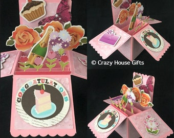 Handmade pop up box card