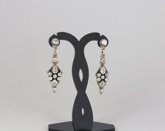 Sterling silver zircon earrings