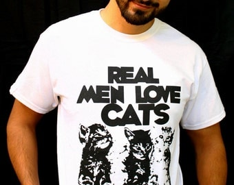 Father's day gift, for him, funny gift for dad, cat dad, real men love cats, cat shirt, gifts for dad, cat clothes, Cat Shirt, for boyfriend