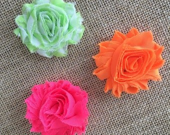 Neon flower hair clips or headband, hot pink hair clip, neon green hair clip, orange flower hair clip, chevron hair clip, UT headband
