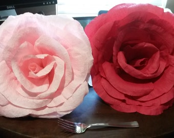 Large crepe paper roses - paper decoration for any event
