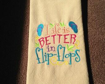 Beach Theme Towels Etsy