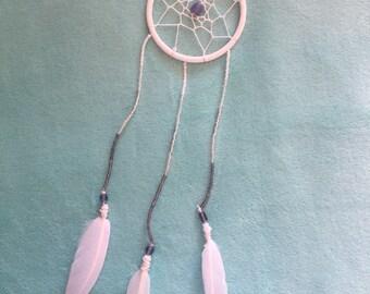 White and purple ombre dreamcatcher