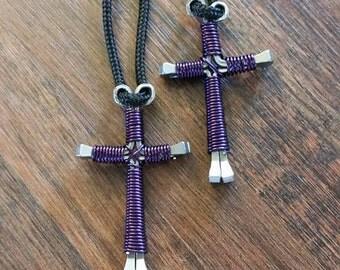 horseshoe nail necklace