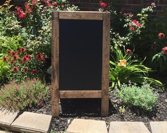 Double Sided Chalkboard Easel - Espresso Chalkboard Easel - Double Sided Easel - Chalkboard Easel - Wedding Chalkboard