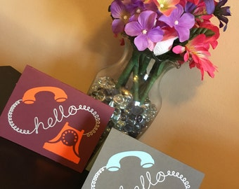 Hello Greeting Cards With Envelopes