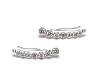 Crystal - 925 Silver earrings