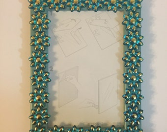 Decorated photo frame- blue