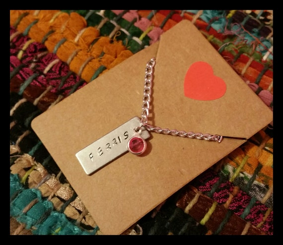 Personalized Mother's Day Hand Stamped Necklace