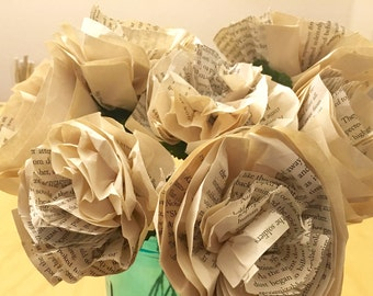 Book Paper Carnations (ten of them)