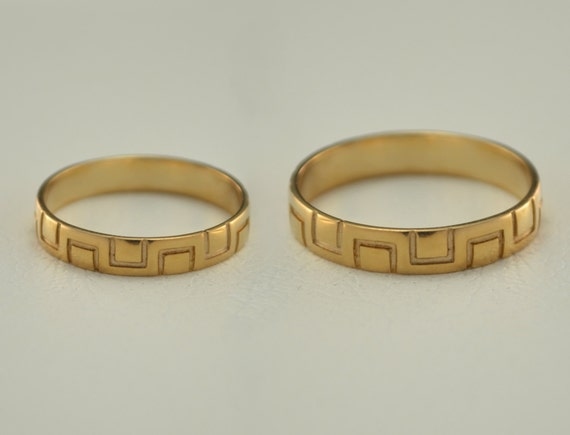 cheap wedding rings bands his and hers yellow by