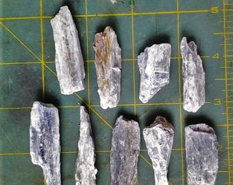1 1/2 -2 inch raw blue kyanite shards