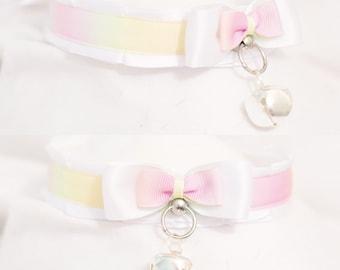 Pastel rainbow collar