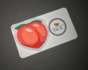 Peach Emoji - Embroidered Patch