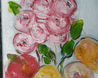 Small oil painting, original oils painting on canvas ready for hanging, impressionist art