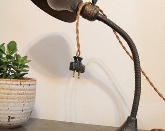 Vintage Aladdin desk lamp Industrial goose neck lamp