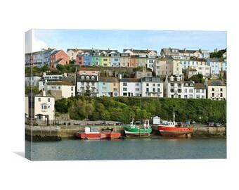 Colourful Brixham Harbour canvas print