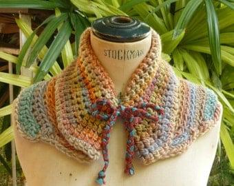 Crochet scarf, Crochet cowl, Neck warmer, Shoulder warmer, Winter scarf