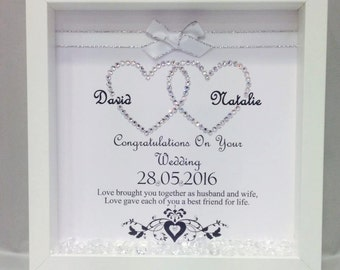 Entwined Hearts Wedding Frame