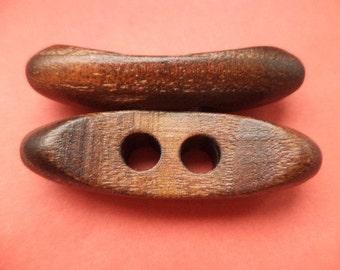 Wood buttons 9 wooden button dark brown 43 mm (6006)