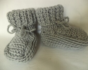 Baby Boots knitted socks baby shoes merino wool
