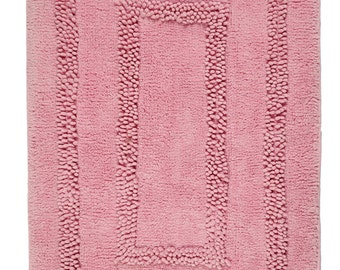 Hand Made Pink Cotton Aena Bath Rug/Bath Mat(80cm x 50cm),2 Piece