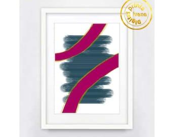 Printable art Digital Prints, pink fuchsia  modern wall art Home decor printable art, printable prints