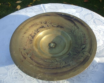 Art Deco Brass Bowl, Marked A Ducobu, French Artist