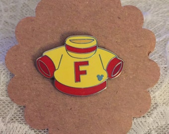 2010 Hidden Mickey Completer Pin - Figment Parts - Figment's Shirt Pin #77199