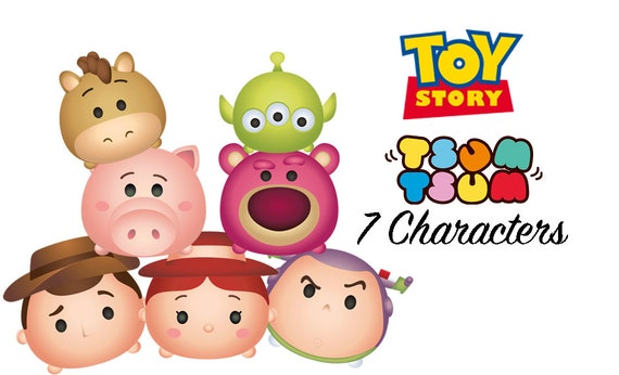 TOY STORY Tsum Tsum. High Resolution Clipart. By PenguinCre8tions