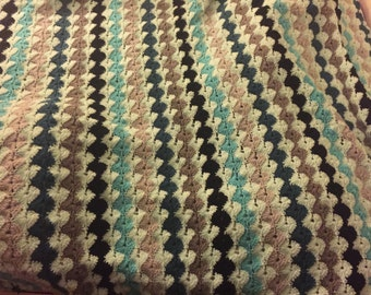 Crocheted Afghan 4'x6'