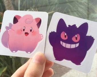 Clefairy & Gengar Stickers!