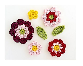 ebook: Flowers and Leaves Applique Crochet Pattern