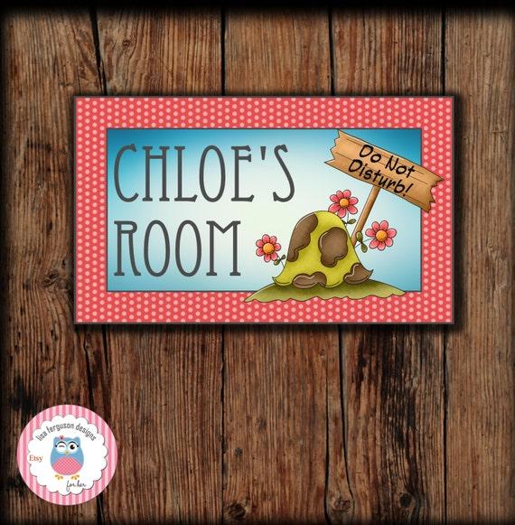 Personalized Turtle Bedroom Door Sign For Kids