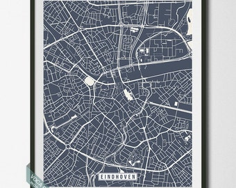 Eindhoven Print, Netherlands Poster, Eindhoven Map, Eindhoven Poster, Netherlands Print, Netherlands Map, Street Map, Christmas Gift