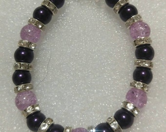 Purple Pearl Beaded Bracelet