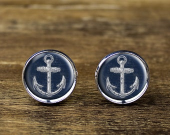 Anchor cufflinks, anchor jewelry, anchor accessories