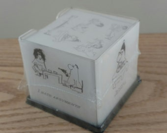 Nebbishes Cartoon Post-It Note Holder and Post-Its