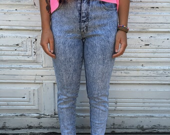 Vintage 80's Jordache High Waisted Jeans - Size 7/8