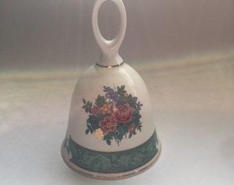 Vintage ceramic / porcelain dinner bell