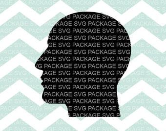SVG Clipart, Man side profile Svg, Cranium Clipart SVG, Male Clipart, Svg Cutting File, Svg Design, Cutting Machine, side profile silhouette