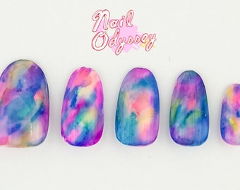 Dreamy Watercolor Press on Nails-Set of 20