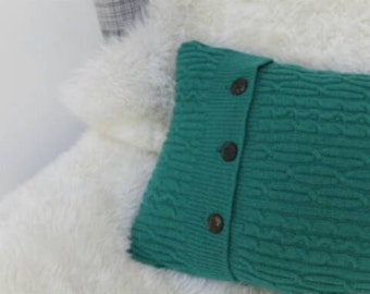 Lambswool Cable Knit Cushion
