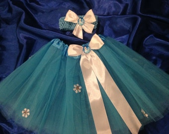 Stunning set skirt tutu + apron 4/6 years